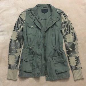 Sweater-Sleeved Anorak Jacket